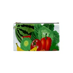 Fruits Vegetables Artichoke Banana Cosmetic Bag (small)  by Nexatart