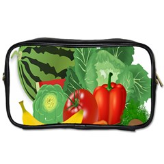 Fruits Vegetables Artichoke Banana Toiletries Bags 2 Side