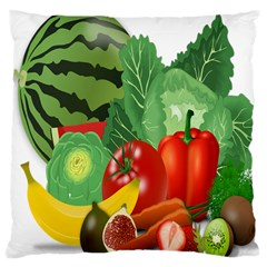 Fruits Vegetables Artichoke Banana Large Cushion Case (two Sides)