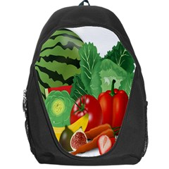 Fruits Vegetables Artichoke Banana Backpack Bag by Nexatart