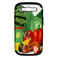 Fruits Vegetables Artichoke Banana Samsung Galaxy S Iii Hardshell Case (pc+silicone) by Nexatart