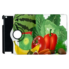 Fruits Vegetables Artichoke Banana Apple Ipad 2 Flip 360 Case by Nexatart
