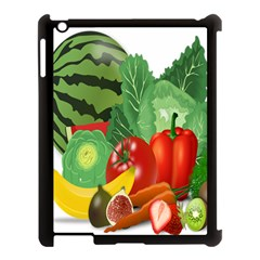 Fruits Vegetables Artichoke Banana Apple Ipad 3/4 Case (black)