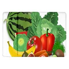 Fruits Vegetables Artichoke Banana Samsung Galaxy Tab 10 1  P7500 Flip Case