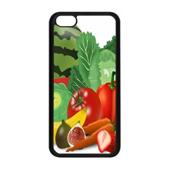 Fruits Vegetables Artichoke Banana Apple Iphone 5c Seamless Case (black) by Nexatart