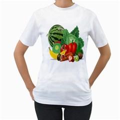 Fruits Vegetables Artichoke Banana Women s T Shirt (white)