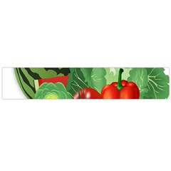 Fruits Vegetables Artichoke Banana Flano Scarf (large)