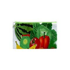 Fruits Vegetables Artichoke Banana Cosmetic Bag (xs) by Nexatart