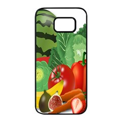 Fruits Vegetables Artichoke Banana Samsung Galaxy S7 Edge Black Seamless Case