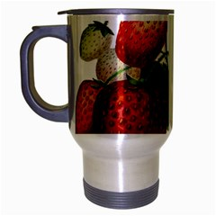 Food Fruit Leaf Leafy Leaves Travel Mug (silver Gray) by Nexatart