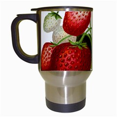 Food Fruit Leaf Leafy Leaves Travel Mugs (white)