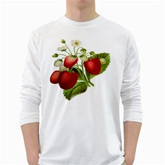 Food Fruit Leaf Leafy Leaves White Long Sleeve T Shirts