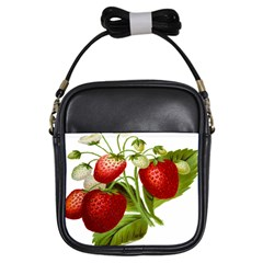 Food Fruit Leaf Leafy Leaves Girls Sling Bags by Nexatart