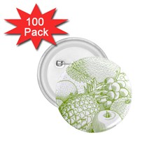 Fruits Vintage Food Healthy Retro 1 75  Buttons (100 Pack)
