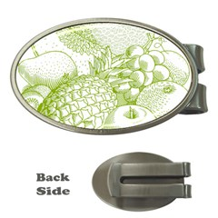 Fruits Vintage Food Healthy Retro Money Clips (oval)  by Nexatart