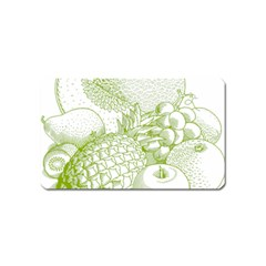 Fruits Vintage Food Healthy Retro Magnet (name Card) by Nexatart