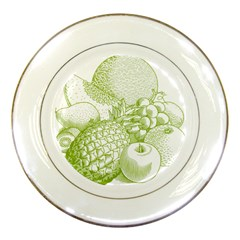 Fruits Vintage Food Healthy Retro Porcelain Plates by Nexatart