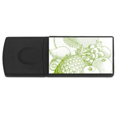 Fruits Vintage Food Healthy Retro Rectangular Usb Flash Drive