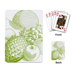 Fruits Vintage Food Healthy Retro Playing Card