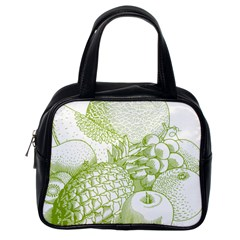 Fruits Vintage Food Healthy Retro Classic Handbags (one Side)