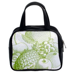 Fruits Vintage Food Healthy Retro Classic Handbags (2 Sides) by Nexatart