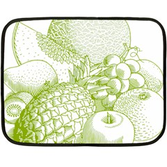Fruits Vintage Food Healthy Retro Double Sided Fleece Blanket (mini)  by Nexatart