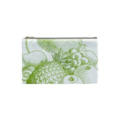 Fruits Vintage Food Healthy Retro Cosmetic Bag (small)