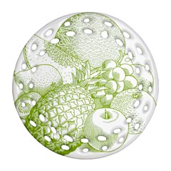 Fruits Vintage Food Healthy Retro Ornament (round Filigree)