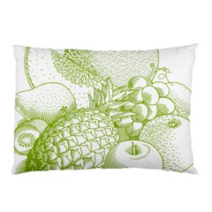 Fruits Vintage Food Healthy Retro Pillow Case (two Sides) by Nexatart