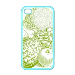 Fruits Vintage Food Healthy Retro Apple Iphone 4 Case (color)