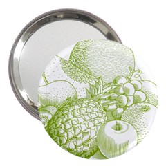 Fruits Vintage Food Healthy Retro 3  Handbag Mirrors