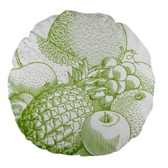 Fruits Vintage Food Healthy Retro Large 18  Premium Round Cushions by Nexatart