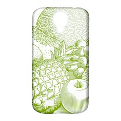 Fruits Vintage Food Healthy Retro Samsung Galaxy S4 Classic Hardshell Case (pc+silicone) by Nexatart