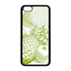 Fruits Vintage Food Healthy Retro Apple Iphone 5c Seamless Case (black) by Nexatart
