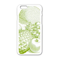 Fruits Vintage Food Healthy Retro Apple Iphone 6/6s White Enamel Case