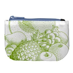 Fruits Vintage Food Healthy Retro Large Coin Purse