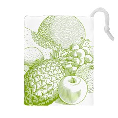 Fruits Vintage Food Healthy Retro Drawstring Pouches (extra Large)