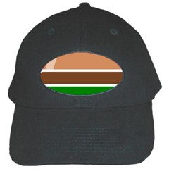 Hamburger Fast Food A Sandwich Black Cap by Nexatart