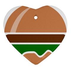 Hamburger Fast Food A Sandwich Ornament (heart)