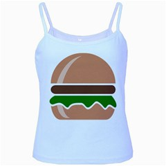 Hamburger Fast Food A Sandwich Baby Blue Spaghetti Tank by Nexatart