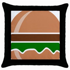 Hamburger Fast Food A Sandwich Throw Pillow Case (black)