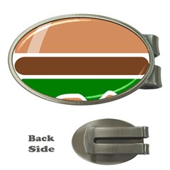 Hamburger Fast Food A Sandwich Money Clips (oval)