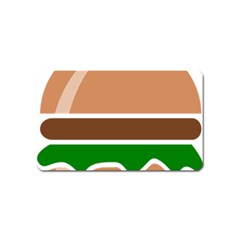 Hamburger Fast Food A Sandwich Magnet (name Card) by Nexatart