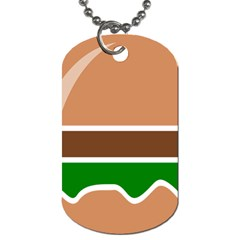 Hamburger Fast Food A Sandwich Dog Tag (one Side)