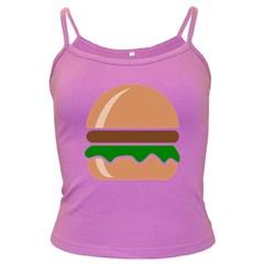 Hamburger Fast Food A Sandwich Dark Spaghetti Tank