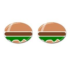 Hamburger Fast Food A Sandwich Cufflinks (oval) by Nexatart