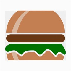 Hamburger Fast Food A Sandwich Small Glasses Cloth (2 Side)
