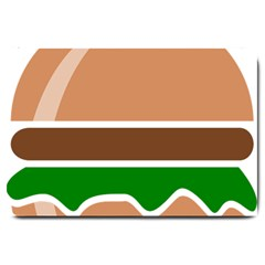 Hamburger Fast Food A Sandwich Large Doormat  by Nexatart
