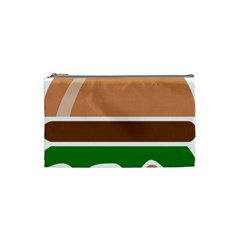 Hamburger Fast Food A Sandwich Cosmetic Bag (small)  by Nexatart