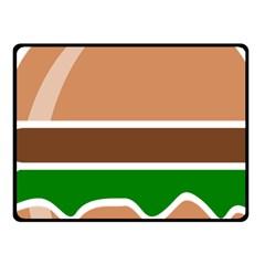Hamburger Fast Food A Sandwich Fleece Blanket (small) by Nexatart